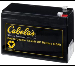 Cabelas 8 amp hour battery