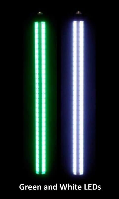 alumiglo led fishing light superbrite 2500 x2 dual color